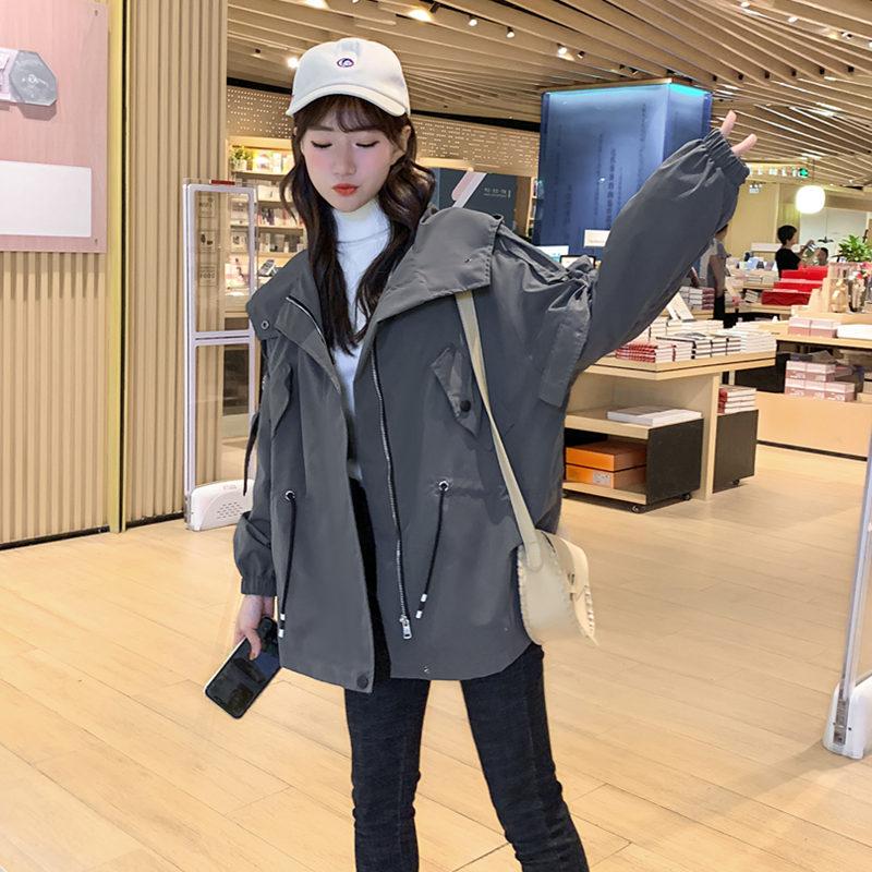 2020年今年流行新款风衣女装中长款小个子宽松百搭春秋季韩版外套
