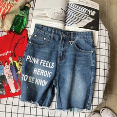 K6002*P60 男士夏季新款牛仔短裤五分裤情侣裤