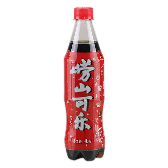 青岛特产火锅必备崂山可乐中草药改良配方500ml*24瓶整箱促销