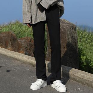 ins潮 MRCYC 宽松直筒西裤 男士 子男韩版 西服裤 阔腿裤 西装 休闲裤