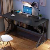 家用寫字桌現代簡約書桌鋼木辦公桌臥室簡易桌學習桌子 電腦桌臺式