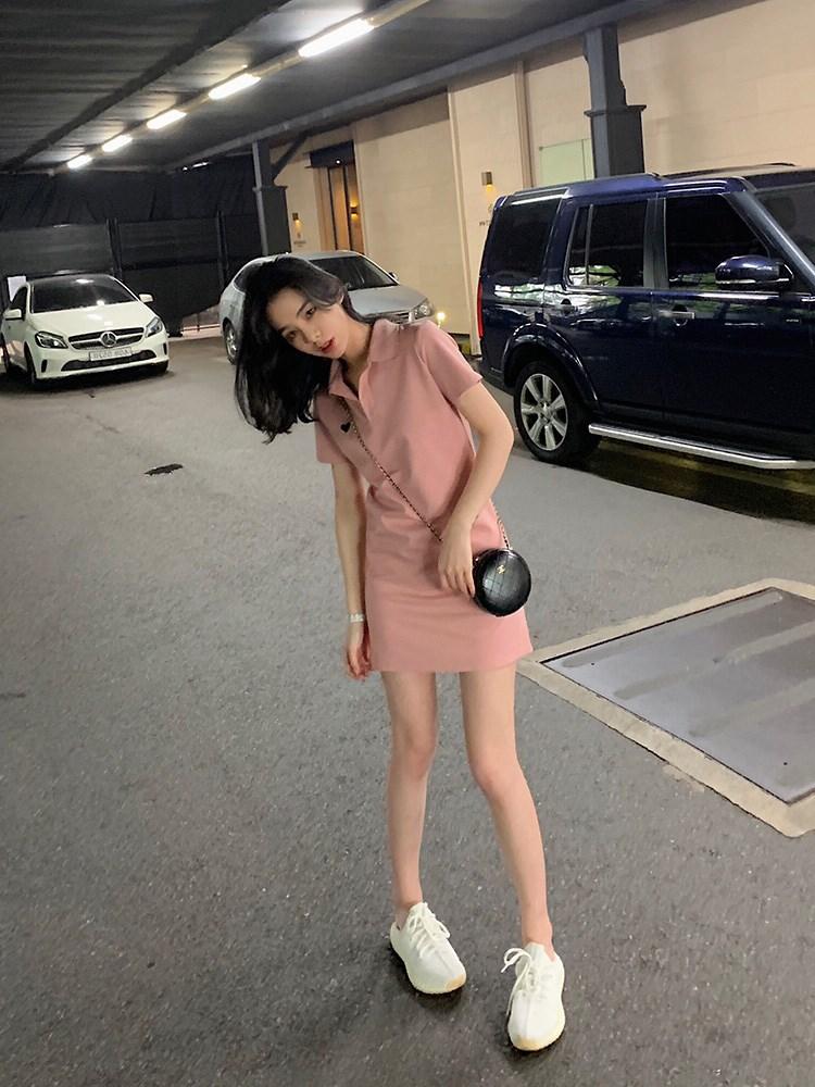 2019新款夏季智熏法式桔梗连衣裙46.06元包邮