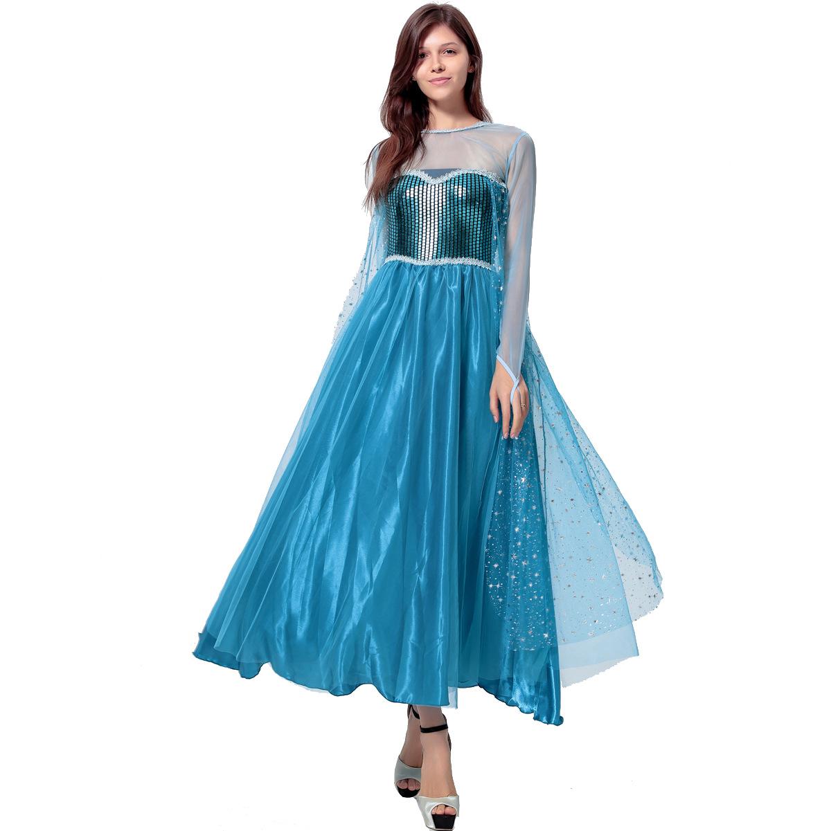 灰姑娘冰雪奇缘公主裙成人女cos童话故事性感游戏制服万圣节服装