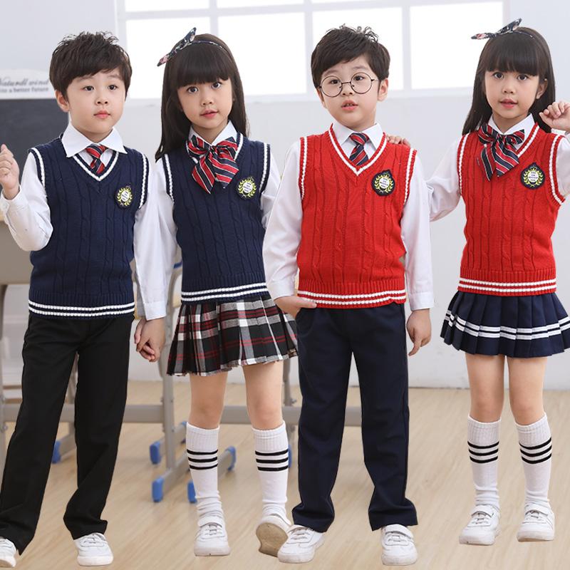 Ngày tết và mùa đông trẻ em hợp xướng quần áo vest biểu diễn quần áo đồng phục trường tiểu học và trung học đọc thuộc lòng quần áo biểu diễn quần áo nam và nữ - Trang phục