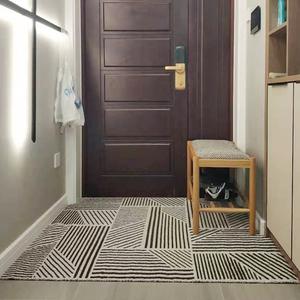 北欧地毯门垫进门门口脚垫家用阳台防滑地垫网红ins丝圈入户裁剪