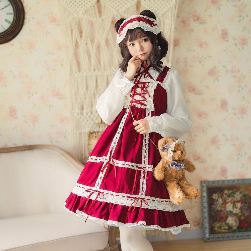 baby定番doll lo裙日常学生洛丽塔软妹洋装可爱连衣裙jsk吊带少女