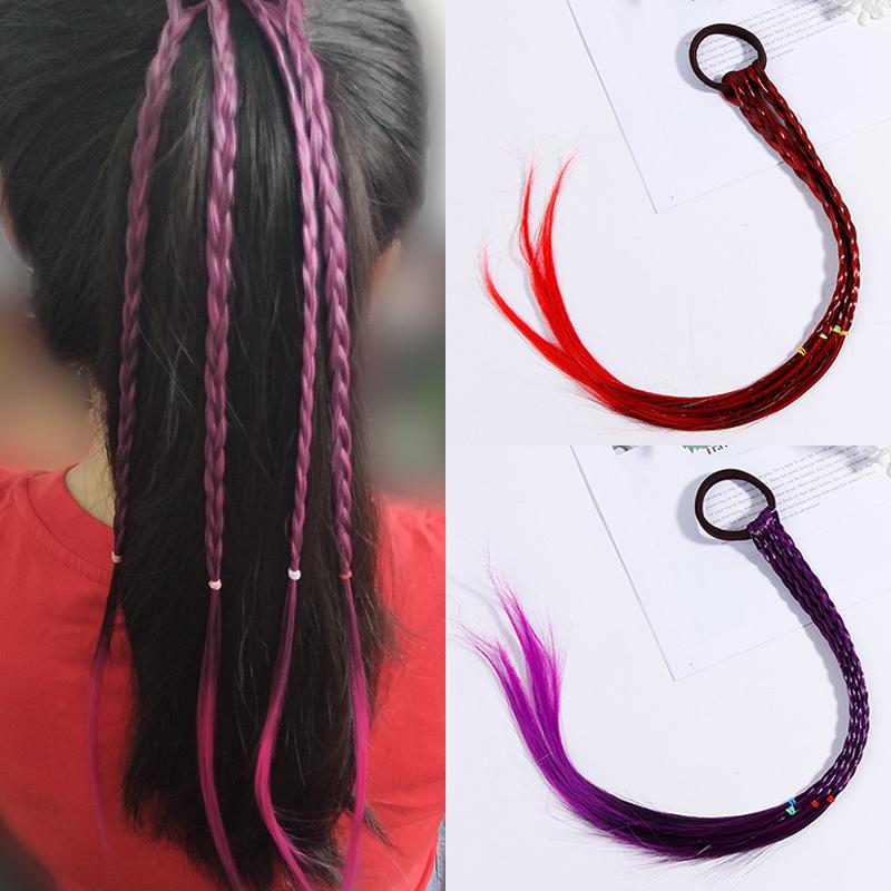 韩版儿童发圈假发带辫子潮流发绳女童时尚宝宝可爱头绳皮筋发饰