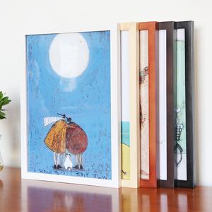 实木相框挂墙儿童简约画框8K4开A3a4幼儿园画室美术素描水粉彩框