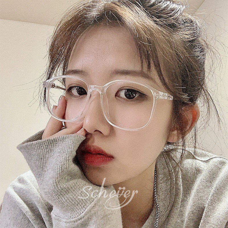 Jordan fashion transparent glasses for short-sighted women can be equipped with lenses, large face and thin decorative eye frame, large frame glasses