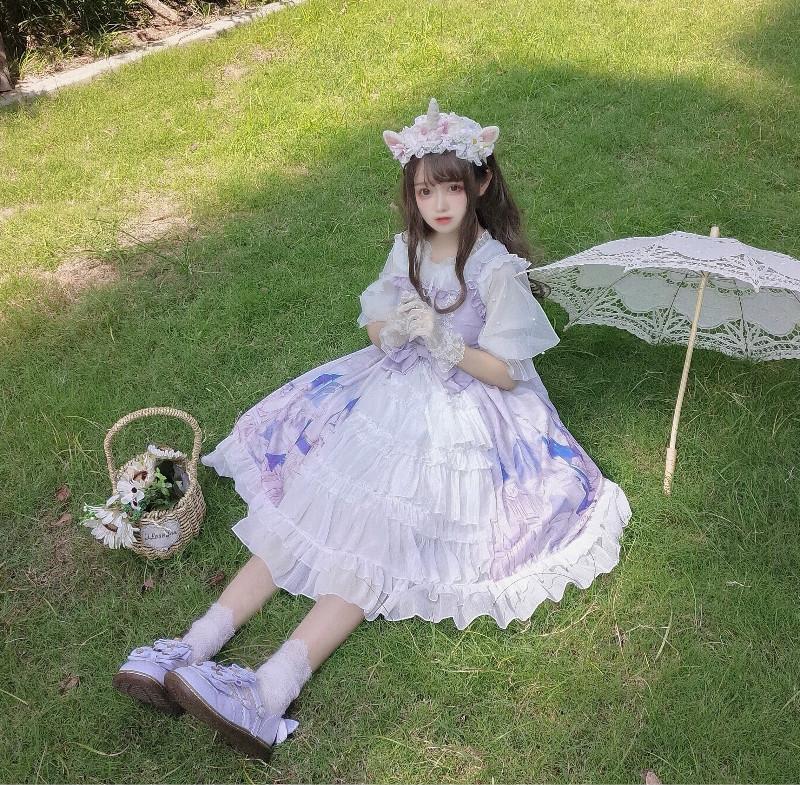 2020ロリータスカートロリータセット小学生少女12-15歳JSKワンピース