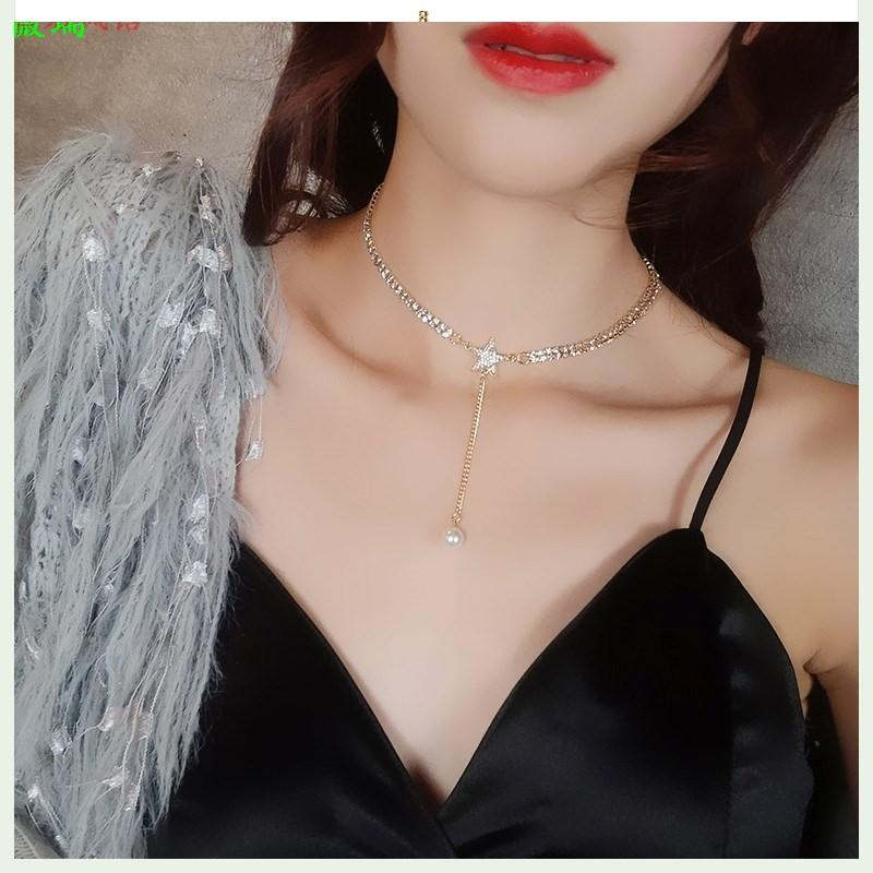 Female sexy collar temperament Necklace Fashion ins collarbone chain neck with net red neck ornaments