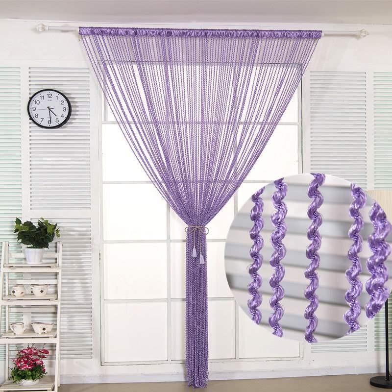 Chu qiaozhuan thick dense curtain partition exhibition hall door curtain decoration curtain spiral thread curtain