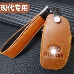 北京现代领动名图朗动ix35悦纳瑞纳ix25途胜复古汽车用钥匙套包扣