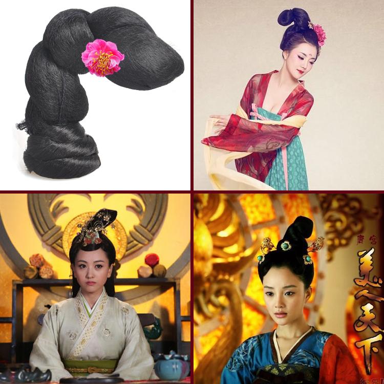 汉唐古装演出宫女舞女皇后贵妃假发发髻舞台戏剧角色扮演头型定制