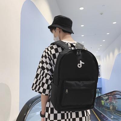 日系男士双肩包学生书包街头流行背包B384-P48