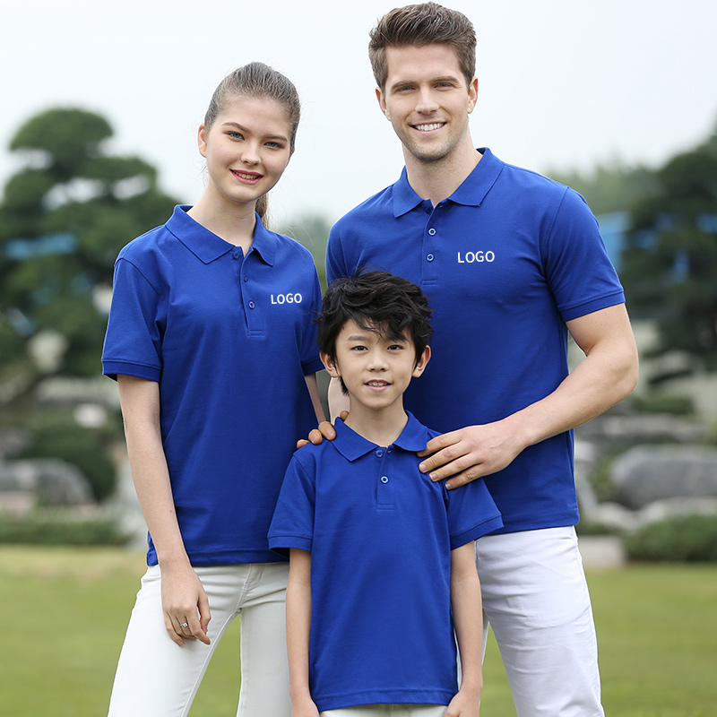 Parent-child clothing custom outdoor team clothing short-sleeved team building training clothing adult children polo shirt T-shirt overalls