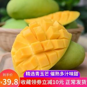 买1送1】云南芒果两件合发9斤 新鲜水果芒果 甜心芒青芒老树玉芒