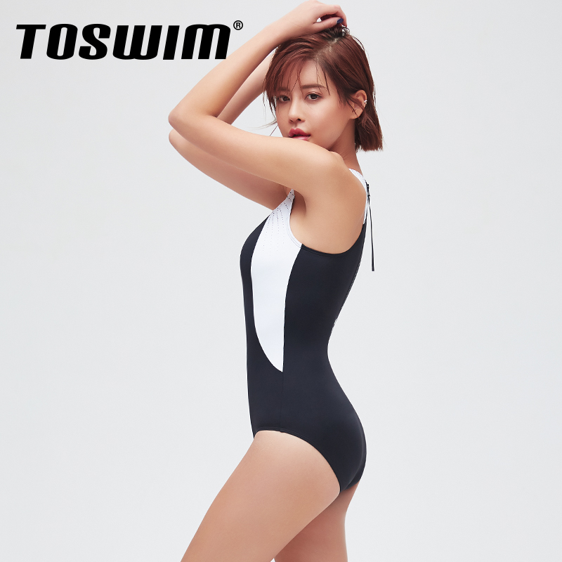 Watertribe x toswim triangle one piece swimsuit for women slim professional swimsuit