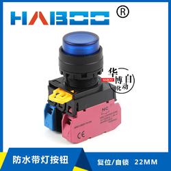 和泉YW1L-M2E/A2E同款 高面带灯自复位或自锁按钮开关LED防水22MM
