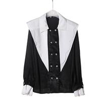 LMF563撞色双排扣衬衫21AE04020