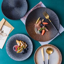 牛排餐盤家用陶瓷西餐盤意面盤日式餐具盤子創意菜盤碟子2021新款圖片