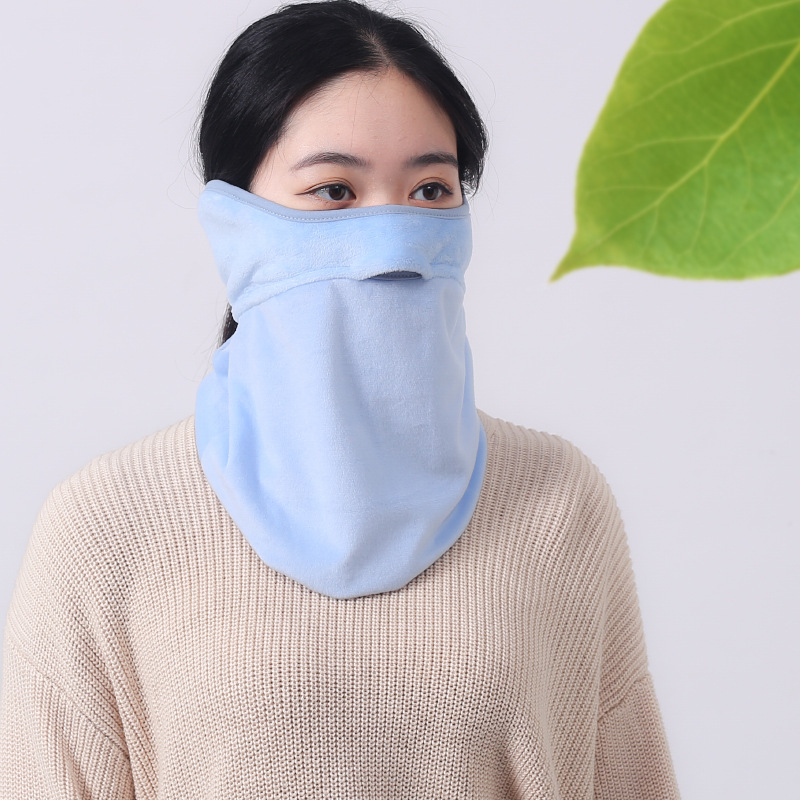 Thick warm mask in winter womens neck and ear protection outdoor riding cold proof Bib opening breathable mask package
