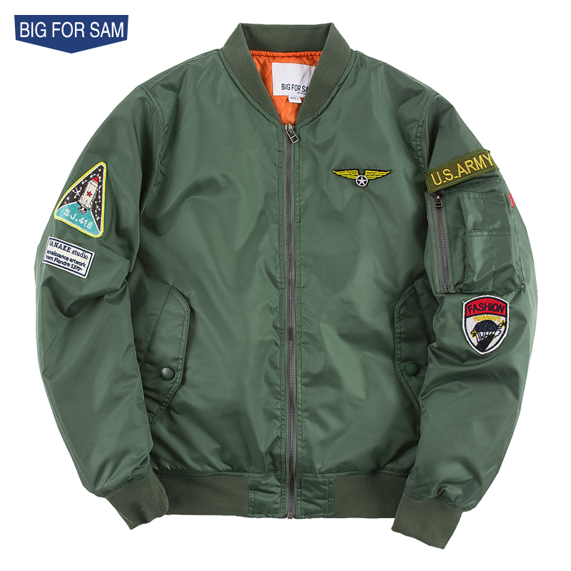 BIG FOR SAM AUTUMN AND WINTER MA1 PILOT JAcket BASIC SUIT FOR MALE AND MALE COLOURS