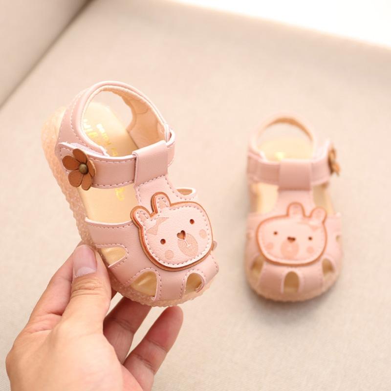 (用22元券)潮防踢夏季女宝宝凉鞋0-2岁1学步鞋子软底防滑公主包头小童儿童鞋