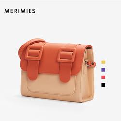 merimies泰国剑桥包M号 明星同款 拼色单肩斜挎包女包邮差包
