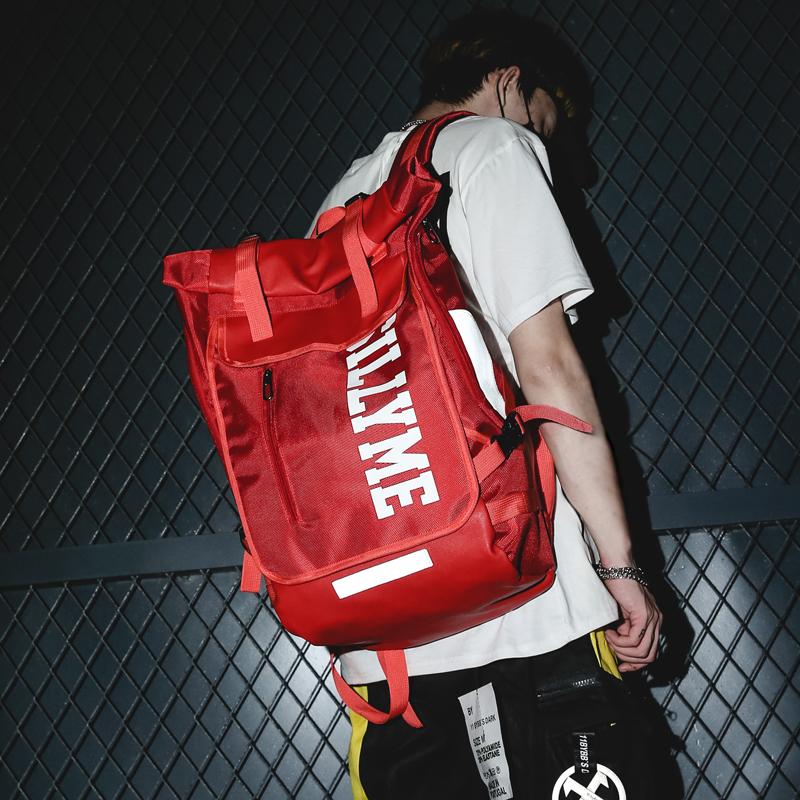 街头时尚潮流背包ins超火双肩包潮牌男大容量15.6寸中学生书包女