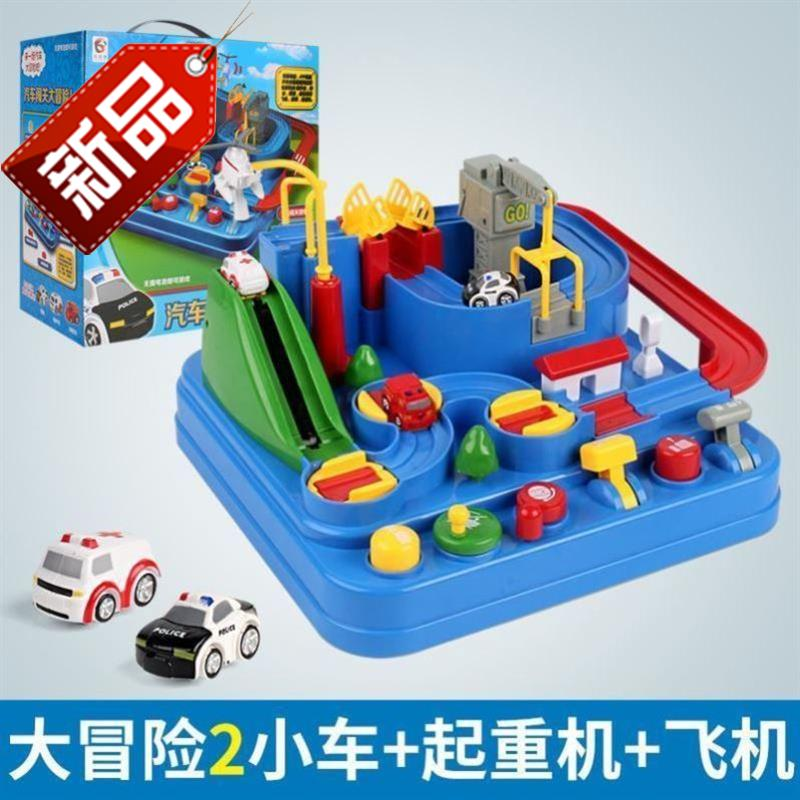 Toy parking lot multi storey small garage brave City F City Road gate pole 3-10 years old boy plastic rail car