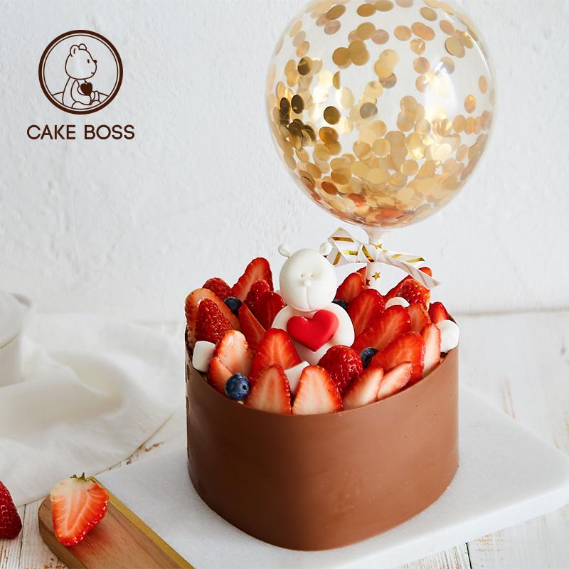 cakeboss【莓你不可】草莓生日蛋糕券后259.00元