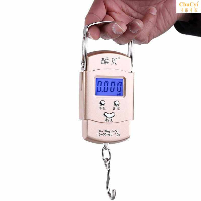 Ling express delivery personnel hand scale electronic scale lifting small hook scale luggage scale tension special hook carrying Mini