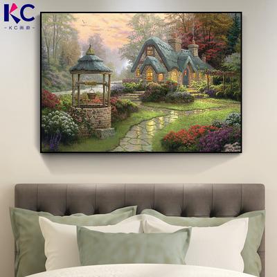 美式乡村田园风装饰画欧式客厅卧室床头房间壁画走廊过道挂画单幅