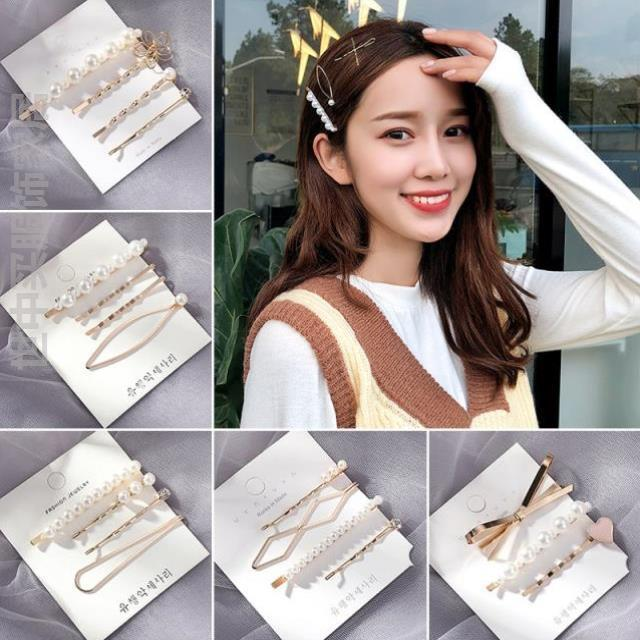 Fresh girl hairpin clip with small style, female side makaron hair hairpin bangs