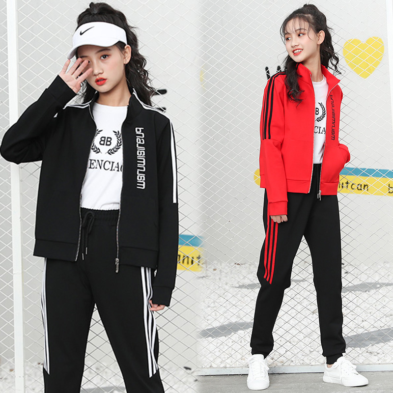 女童套装2020新款秋装中大童洋气女孩12-15岁运动休闲套装女装13