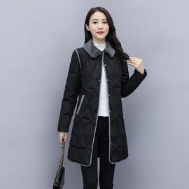 轻薄羽绒服女中长款2020新款韩版显瘦收腰气质小个子保暖撞色外套