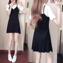 【假两件连衣裙】新款连衣裙韩版修身显瘦大码女装裙子女潮m-3xl