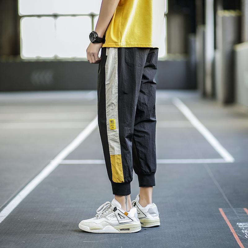 Spring and summer thin sports quarter pants mens Korean fashion loose casual work clothes Leggings versatile ruffian handsome