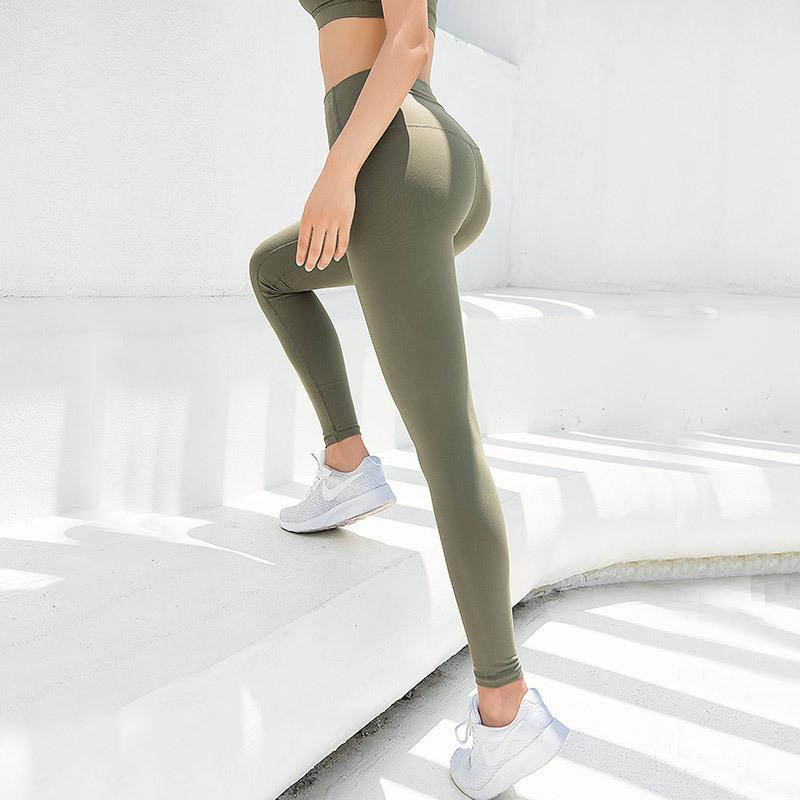 夏季弹力提臀速干训练裸感健身裤限8000张券