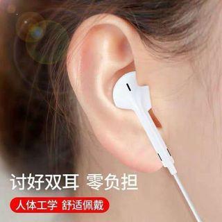 入耳式耳机有线type-c圆孔适用华为oppo小米vivo荣耀耳塞重低音运动跑步K歌高音质电脑通用原装正品