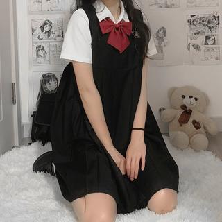 日系原创小乖刺绣JK制服卡奶裙学院风校供连衣裙套装春夏新款长裙