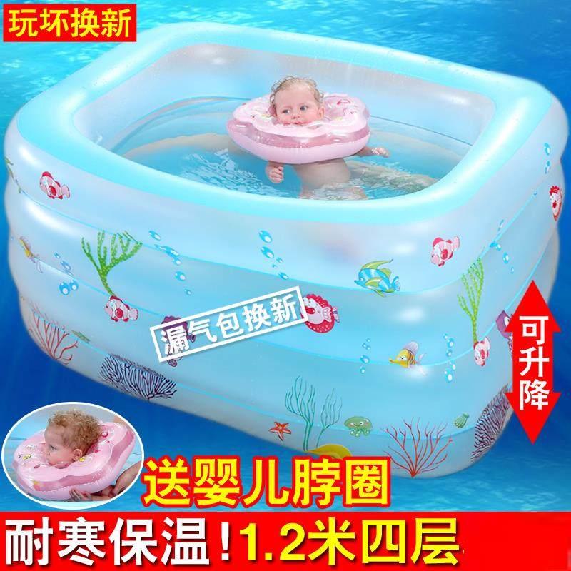 (用1.96元券)婴幼儿圆形充气打气家用小孩游泳池