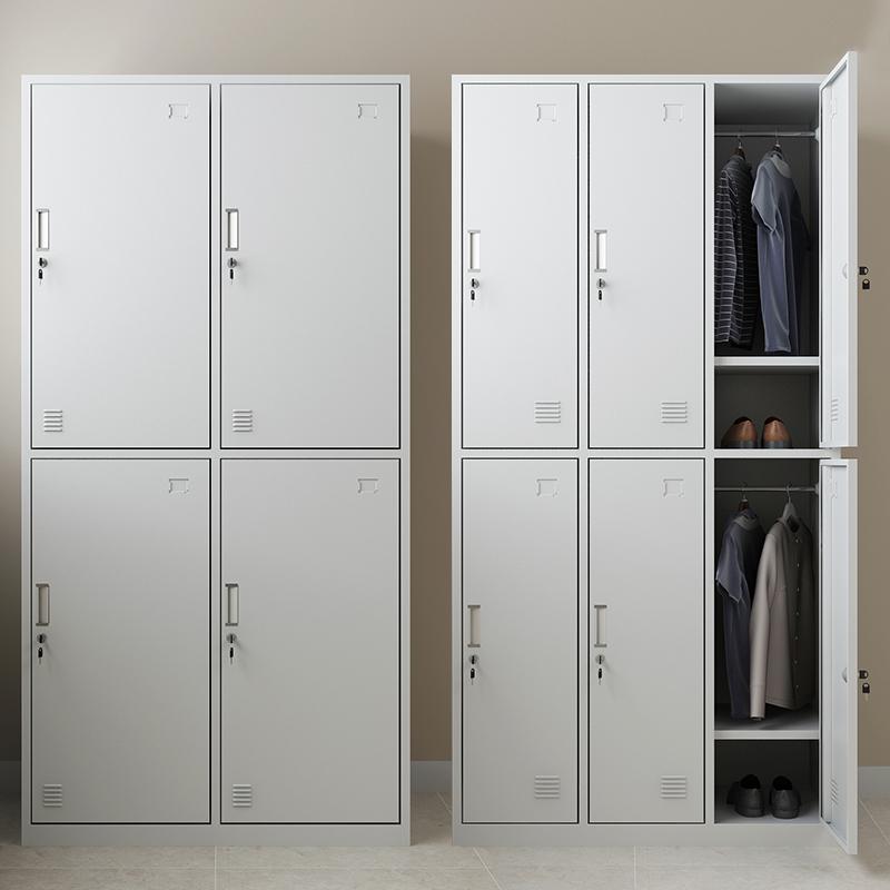 更衣柜员工储物柜铁皮带锁储存柜健身房更衣室钢制六九门宿舍柜子