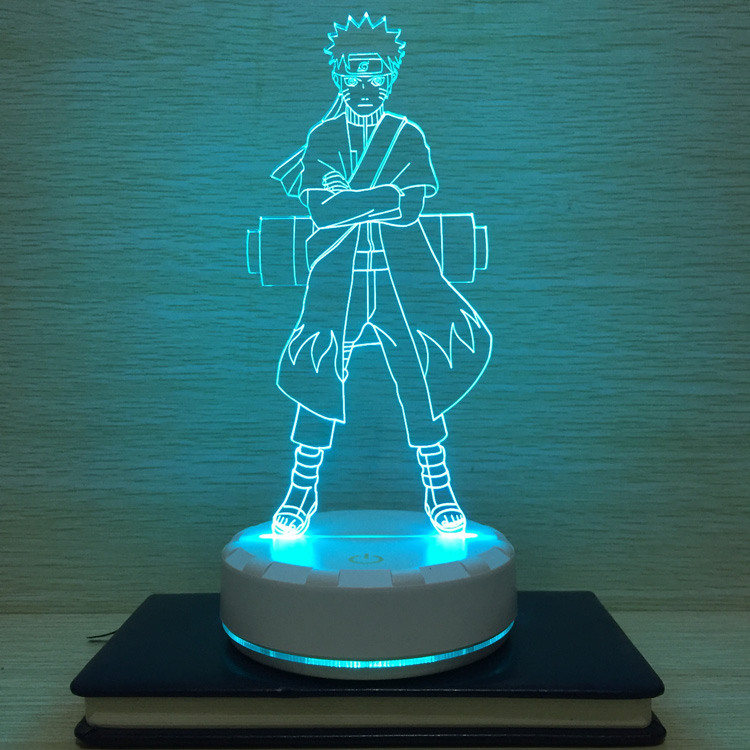 火影忍者小夜灯旋涡鸣人台灯动漫周边3D卧室床头灯DIY男女生日礼
