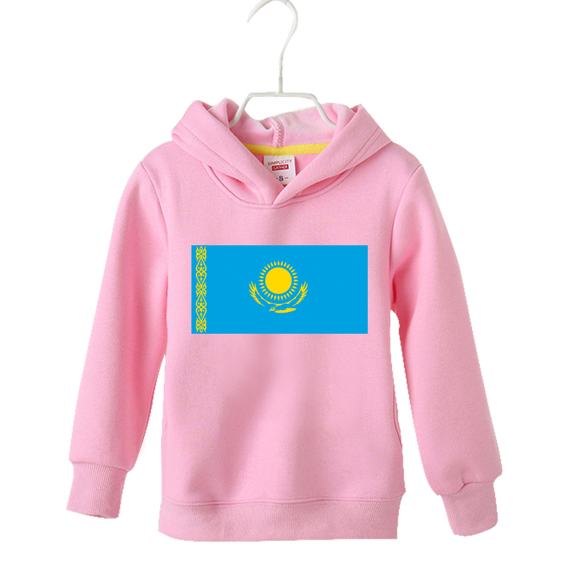 Childrens boys autumn and winter foreign style printed with Kazakhstan national flag pattern Round Neck Sweater Hoodie Jacket fashion