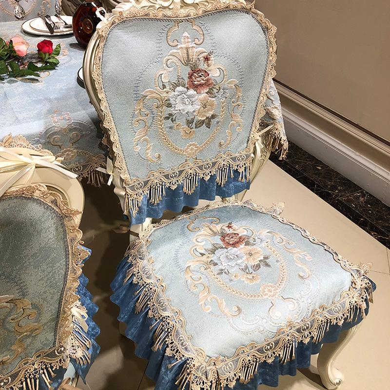 欧式餐桌椅垫凳子椅子坐垫四季通用套罩布艺奢华防滑高档家用定做