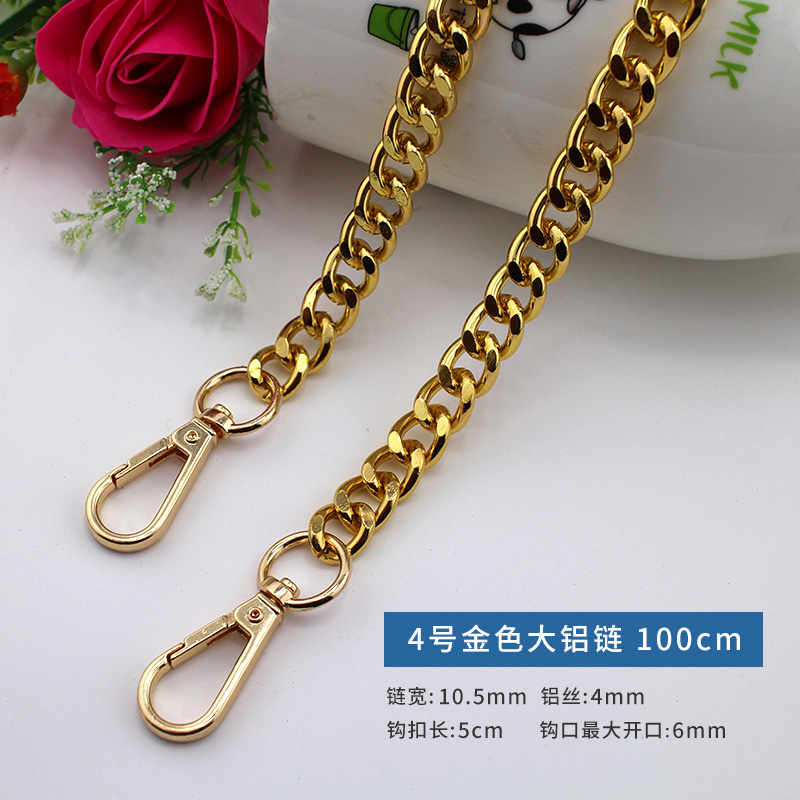 Versatile chain sweater, long chain, 2019 new golden personality, slant span, no fading, bag belt, long belt