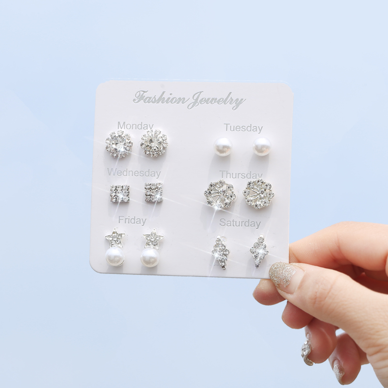 Middle aged Earrings womens mothers suit combination feminine personality about creative Earrings simple Earrings versatile