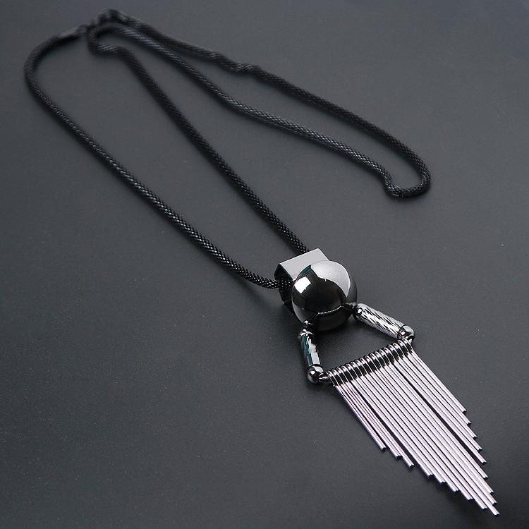 Fashion Necklaces Pendant Necklaces necklaces black necklaces hip-hop Korean young mens chest chain shirt